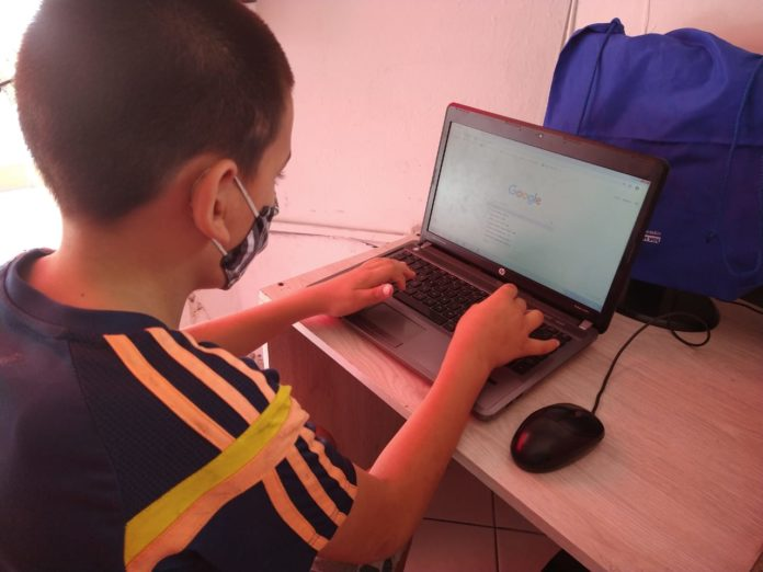 Daniel Santiago Soto Caro, es hermano de Jean Paul y cursa quinto grado. Foto: Sandra Gaviria.