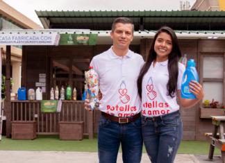 John Berrío López, fundador de Botellas de Amor y Kelly Rodríguez, Directora de Sostenibilidad.